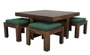 Coffee Table With Nesting Stools - solid wood sheesham coffee table with nested stools manufacturer
