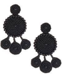 Nakamol Czech Crystal Beaded Chandelier Lyst Shop Women U0027s Nakamol Earrings From 14 Lyst