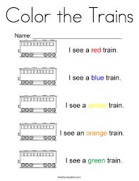 color trains coloring twisty noodle