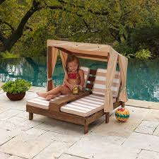 Wooden Outdoor Lounge Chairs Amazon Com Kidkraft Double Chaise Lounge With Cup Holders Toys