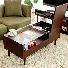 coffee table wood tea small apartment multifunctional storage