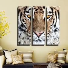 hd oil painting tiger head wall art home decor animal on canvas hd oil painting tiger head wall art home decor animal on canvas modern wall pictures for living room artworks no frame 3 pieces in painting calligraphy