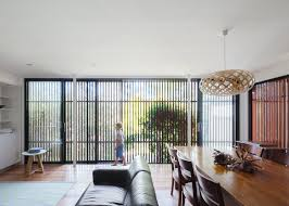 bijl architecture adds slatted screen to sydney bungalow