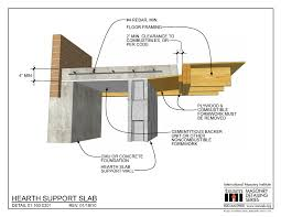01 160 0301 hearth support slab international masonry institute