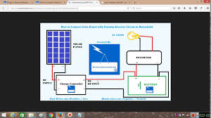 how to connnect home inverter to solar panels hindi youtube