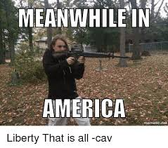 Meanwhile In America Meme - meanwhile in america mematic net liberty that is all cav america
