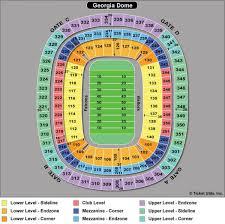 Map Atlanta Ga by Ga Dome Seating Map Atlanta Falcons Stadium Map United States