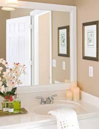 How To Frame Bathroom Mirror White Framed Bathroom Mirror Complete Ideas Exle