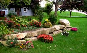 landscaping ideas for front yard with rocks christmas lights