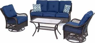 Swivel Rocking Chairs For Patio Orleans 4 Piece Outdoor Conversation Set With Swivel Glider Chairs
