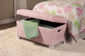 Chevron Storage Ottoman The Best Pink Storage Bench For Children Home Inspirations Design