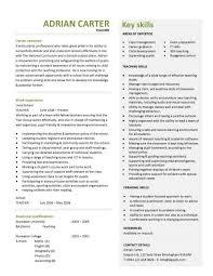 teacher cv template lessons pupils teaching job