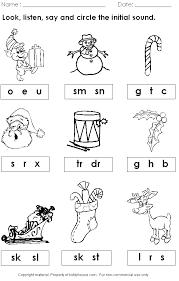 christmas worksheets kindergarten free worksheets library