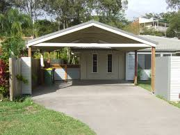 simple modern carport with grey and white ceiling combined with