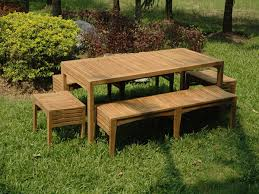 Table With Benches Set Gorgeous Outdoor Bench Set Teak Garden Table And Bench Set Table