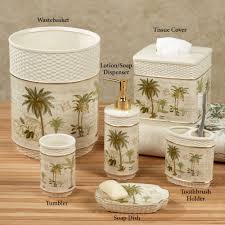 home bath bath accessories colony palm tree tropical bath