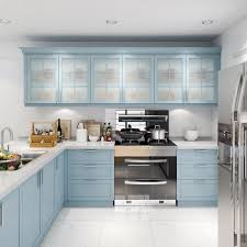 blue modern kitchen cabinets china modern classic baby blue glossy lacquer kitchen
