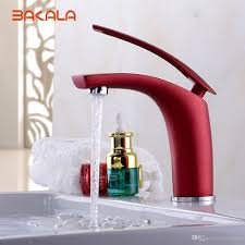 2017 bakala bathroom faucet red black gold green paint finish