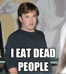 Funny Fat People Meme - i eat dead people fat haley joel osment quickmeme