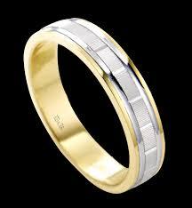 wedding band ni two tone wedding ring grooved white yellow s band ni