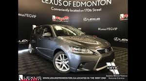lexus ct200h canada gray 2017 lexus ct 200h touring package walkaronud review south