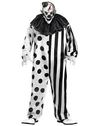 killer clown costume by fun world size l walmart com