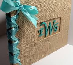 Monogrammed Photo Albums Great Photo Album Idea But Do Black Instead Of Burlap N