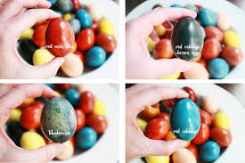 easter eggs using food colors to create naturally dyed eggs