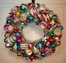 craft vintage glass ornament wreath discerning dilettante