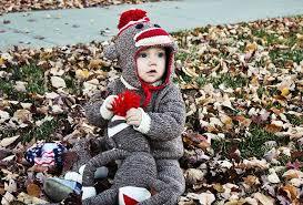Sock Monkey Costume Tutorial Baby Knit Sock Monkey Halloween Costume