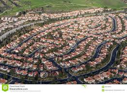 modern los angeles suburbia aerial stock photo image 85729450