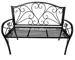 wrought iron bench white bench decoration