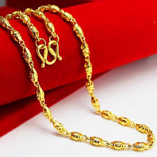 ladies gold necklace images Wholesale with a thousand feet stamp not fade gold necklace mens jpg