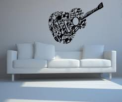 vinyl wall decal sticker music note guitar os mb918