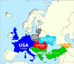 Map Of North America And Europe by How The Us Population Fits In Europe 1275x862 Mapporn