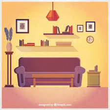 Home Interior Vector by Lovely Living Room Interior Vector Free Download
