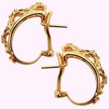 chaumet earrings chaumet yellow gold vintage earrings