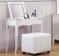 Youth Vanity Table Sparkle Youth White Vinyl Wood Glass Vanity Desk W Lift Top Mirror