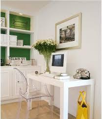 love west elm parsons desk lucite desk chair bookshelves with a pop of color