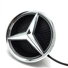 illuminated car led grille logo emblem light for mercedes benz glc