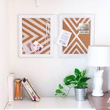 how to make a cork pinboard for a better organized home