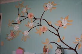 home furniture tree wall painting room decor for teens pottery