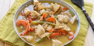 poivron cuisine poulet lait de coco poivron facile et pas cher recette sur