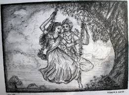 beautiful pencil sketch of radha krishna drawing of sketch