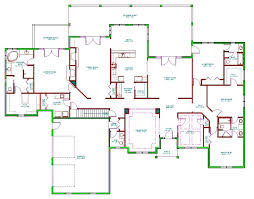 large ranch house plans floor plan home ranch style bedroom split canadian raised side
