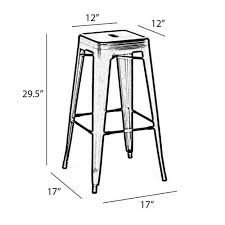 Industrial Metal Bar Stool French Industrial Wood And Metal Bar Stools Zin Home