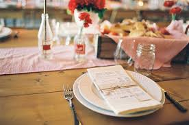 Wedding Table Setting State Fair Inspired Barn Wedding Table Setting