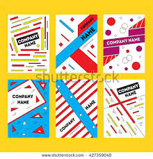 vector design templates backgrounds printed materials stock vector