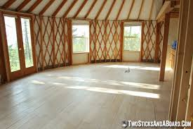 diy plywood floors for our yurt