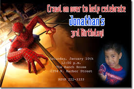 spiderman birthday invitations badbrya com